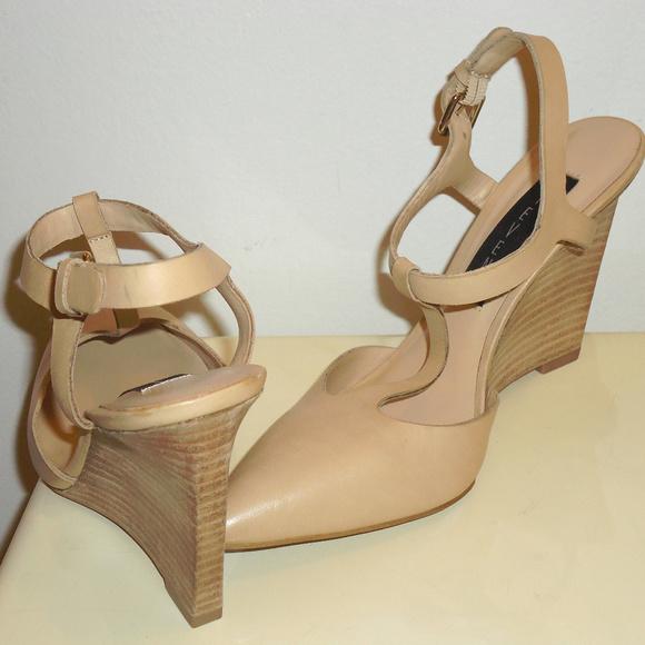 20bea0d3a01 Steven Nude Leather Wege Sandals Sz.6